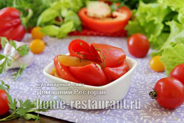 Закуска з болгарського перцю на зиму з часником і зеленню - домашній ресторан