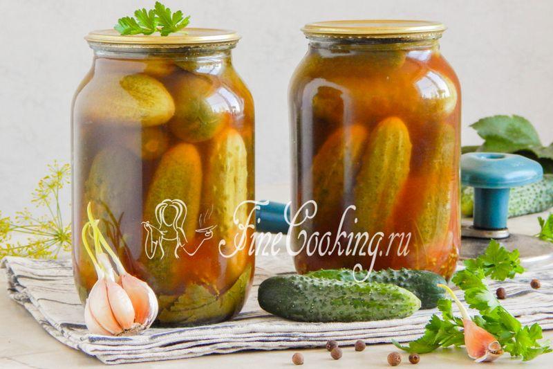 Огірки з кетчупом на зиму - рецепт